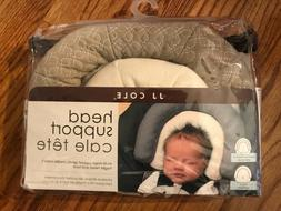 JJ Cole INFANT HEAD SUPPORT SET / Gray + White Car Seat Inse