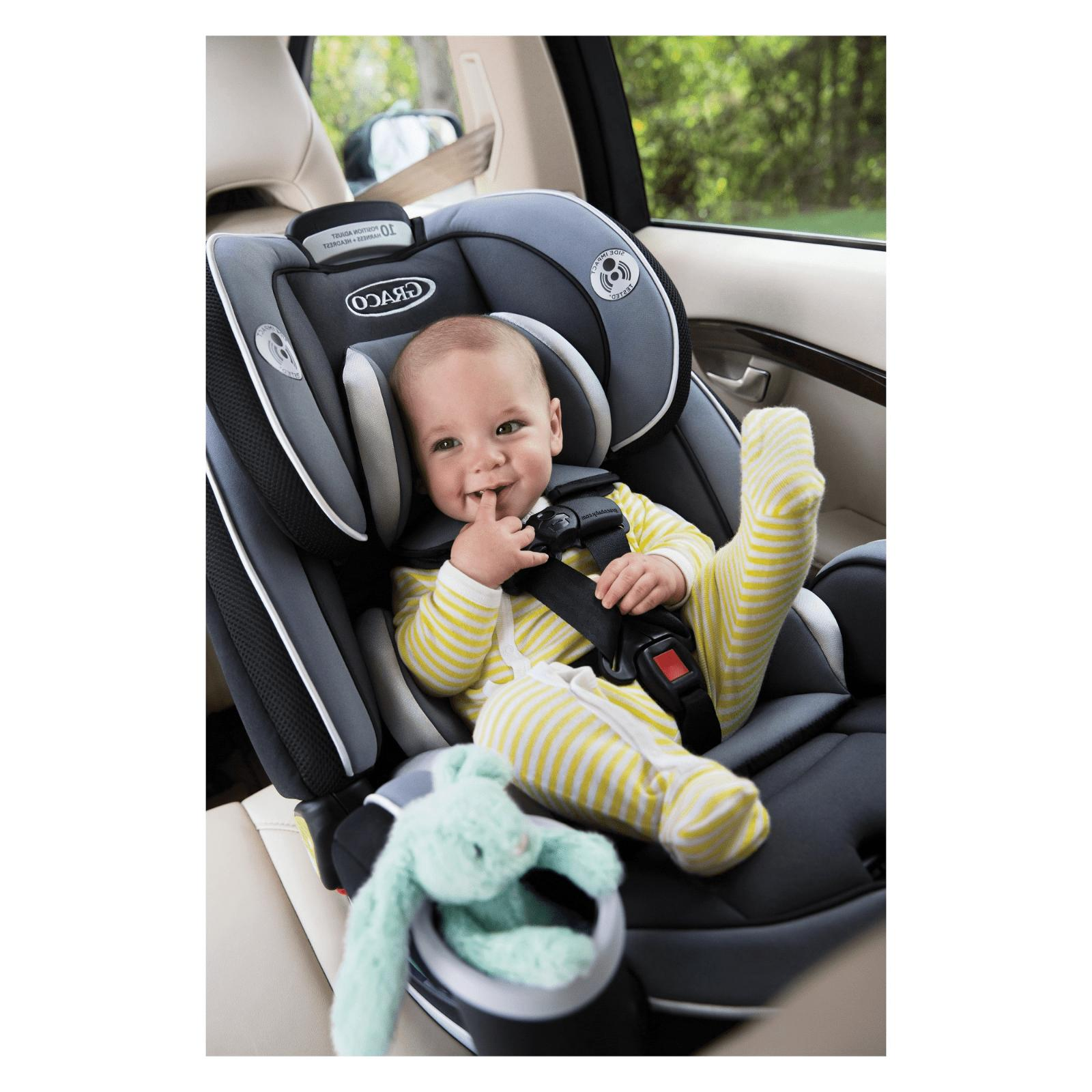Baby Convertible Car Seat Gray Infant Toddler Booster 6 Position Recline