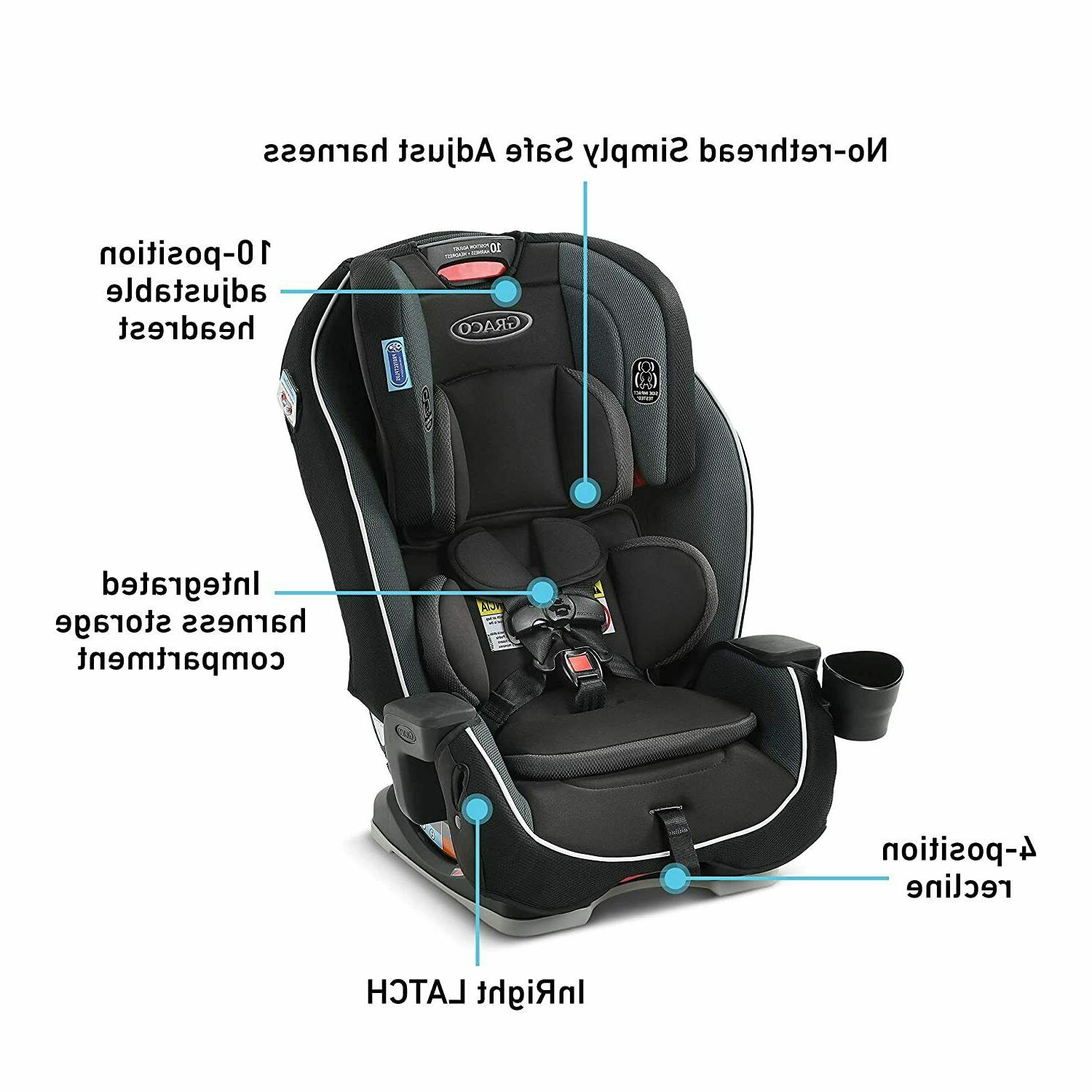 Graco Milestone 3 in 1 Convertible Car Seat Gotham Toddler