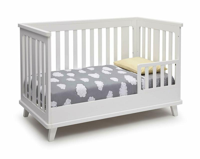 Delta Ava 3-In-1 Convertible Baby Crib, White