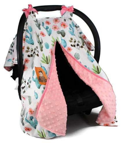 Dear Baby Gear Baby Car Seat Canopy Cover, Watercolor Cactus