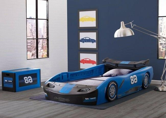 kids twin bed frame race car toddler