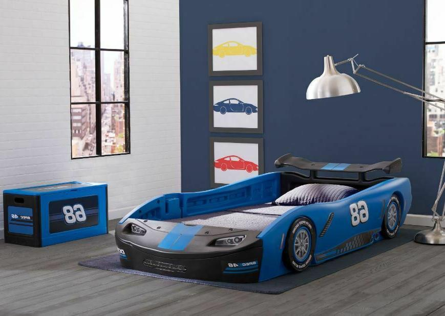 race car bed frame twin size kid
