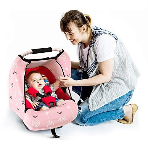 Stretchy Baby Car Covers for Infant Car Autumn Warm Windproof,