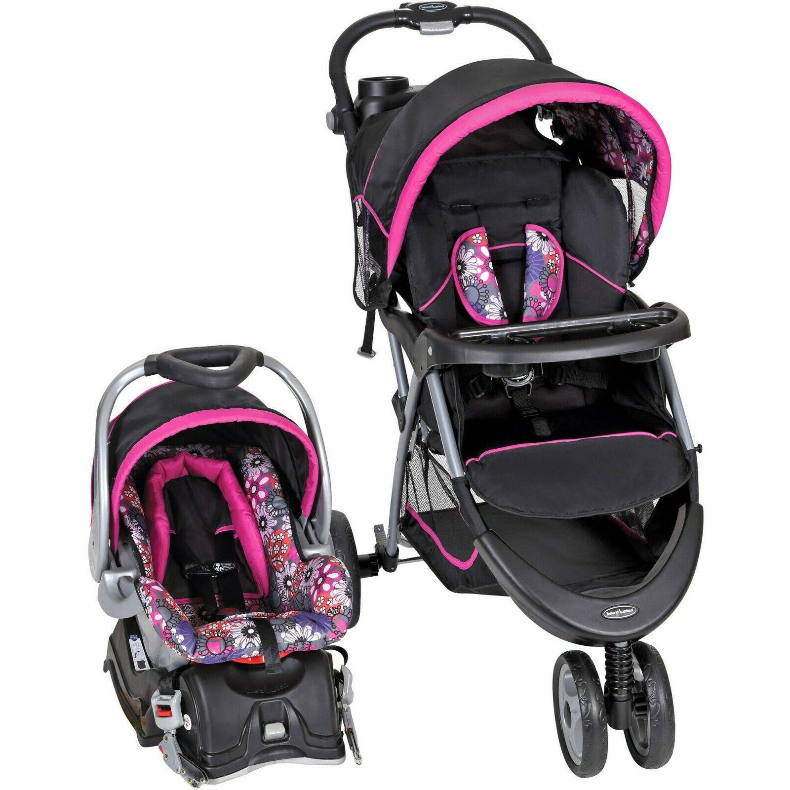 Baby Trend EZ Ride Stroller 5 Point Safety Harness Travel Sy