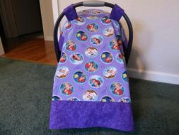 **LITTLE MERMAID**in purple Handmade Baby infant Car Seat Ca