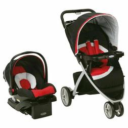 Graco Pace Click Connect Travel System Spice Red Black Car S
