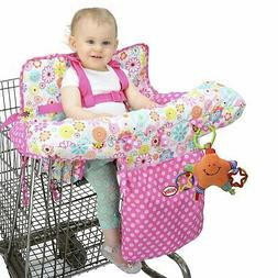 Nuby Shopping Cart High Chair Cover Girls Floral Baby Toddle