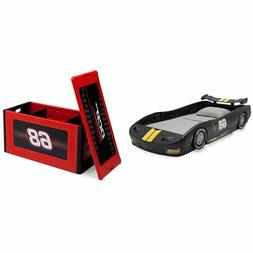 Delta Children Turbo Race Car Twin Bed, Black, with Turbo To